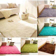 Fluffy Rugs Anti-Skid Shag Area Rug Dining Room Home Bedroom Carpet Floor Mat
