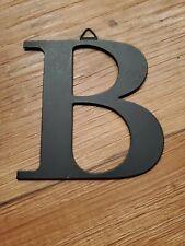 Metal B Hanging Black Decorative Ornament Flat