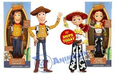 Disney Store WOODY & JESSIE Talking Fig TOY STORY PIXAR Cowboy NEW 2020 LOT of 2