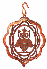 SWEN Products OWL COPPER Tini Swirly Metal Wind Spinner