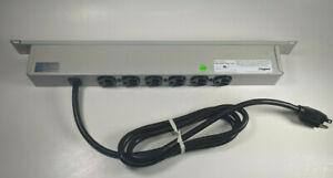 """Legrand DK7274035 19"""" Rackmount 15A 6 Outlet Power Strip"""