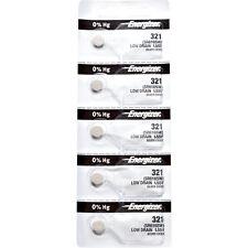 5 x Energizer 321 Watch Batteries, 0% MERCURY equivilate SR616SW