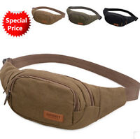 Canvas Belt Waist Pouch Bum Bag Military Travel Camping Fanny Pack Phone Pocket
