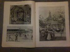 1899 la ILLUSTRATO London News Posa Pietra Miliare Albert Museum