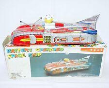 Original TA China ME-102 SPACE SHIP JET CAR Tin Toy Battery Operated MIB`76 RARE