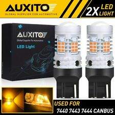 AUXITO 7443 7444 Anti Hyper Flash LED Turn Signal Light Amber Yellow Error Free