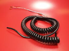 KALESTEAD COILED DATA CABLE 6 CORE TINSEL CONDUCTOR PVC/PVC BLACK TELEPHONE TYPE