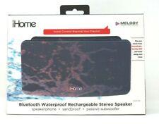 iHome Black Portable Bluetooth Waterproof Rechargeable Stereo Speaker iBT39