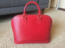 Auth LV Red Epi Alma PM Leather Handbag Red EUC! ShipsFree! PRICE REDUCED!!