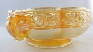 Vintage Marigold Carnival Iridescent 2 Loop Handle Bowl 4 Part Mold 14