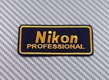 Embroidered Patch Iron Sew Logo Emblem NIKON camera lens photo canon fuji sony