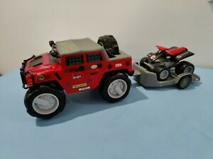 Little Tikes Rugged Riggz HUMMER and racing quad bike with trailer