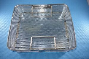 Aesculap JF114R Sterilization Basket Half-Length with Handle Missing 1 Foot