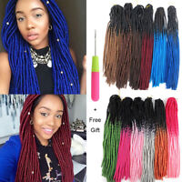 "20"" Ombre Faux Locs Synthetic Crochet Twist Braids Afro Dreads Hair Extensions"