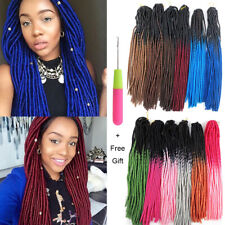 """20"""" Ombre Faux Locs Synthetic Crochet Twist Braids Afro Dreads Hair Extensions"""