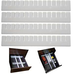24 Stück Schubladeneinteiler Schubladenteiler Schubladenraster Fachteiler weiß