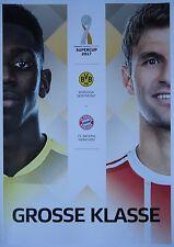 Programm Aufstellung Statistik Supercup 2017 Borussia Dortmund Bayern München #1