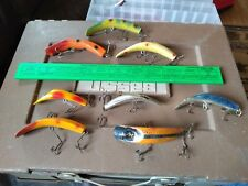 Lot Of 8 Vintage Helin Flatfish Quickfish other Fishing Lures