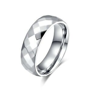 Size 5-13 Titanium Steel Ring Simple Men/Womens Fashion Wedding Engagement Band