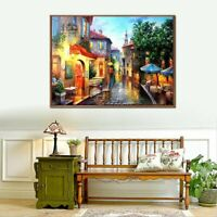 European Town Oil Painting By Numbers Kit Home DIY Paint Canvas JL