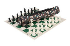 Quiver Chess Set Combination - Triple Weighted - Desert Camo Bag / Green Board