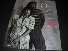 Ashford & Simpson One Of Summer's Nicest Surprises 1986 Promo Poster Ad mint con