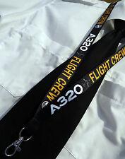 Lanyard AIRBUS A320 FLIGHT CREW keychain neckstrap for pilot crew Lanyard A 320
