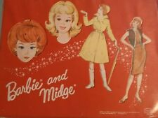 Vintage 1964 Barbie & Midge Doll Case with Assorted Clothing