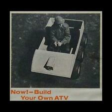 6 wheel Atv 1970 HowTo build Plans Wood & Steel All Terrian Vehicle