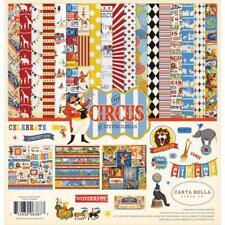Greatest Circus Collection Kit 12X12 Scrapbooking Kit Carta Bella CBC193016 New