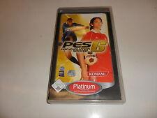 PlayStation Portable PSP pro evolution soccer 6 [Platinum)
