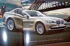 2010 bmw 7 series sales brochure catalog e66 7 series brochure 750i 750li 2009