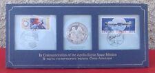 Collection Edition limitée Apollo-Soyuz 1975 - 1 Pièce argent massif + 2 timbres