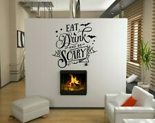 Halloween Spooky Scary Party Vinyl Decal Stickers Shop Window Wall Decoration