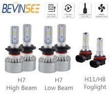 For Audi A3 2009-2013 A3 Quattro 6x Combo H7 & H11 LED Headlight Fog Light Bulbs