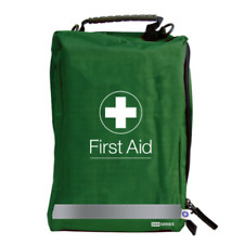 Empty First Aid / Medical Bag Large - Series 500 - With Compartments - Red/Green