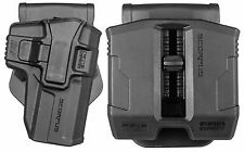 S&W M&P 9mm/.40 Full frame & Pro OWB Polymer Holster & Double Magazine Pouch