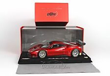 BBR 1/18 Ferrari 488 GT3 2015 Rosso Fuoco Metallic in display P18123RF (LE 24)