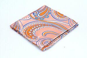 Lord R Colton Masterworks Pocket Square Orange Supremacy Silk $75 New