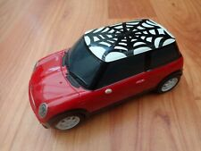HORNBY SCALEXTRIC - RED BMW MINI COOPER SPIDER WEB SPIDERMAN ROAD SLOT CAR C2824