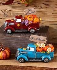 Vintage Led Lighted Pickup Truck w/ Seasonal Sign Harvest Fall Halloween Decor