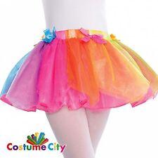 Childrens Girls Rainbow Fairy Tutu Fancy Dress Costume Accessory