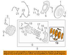KIA OEM 2016 Sorento Brake-Front Pads 58101C6A00