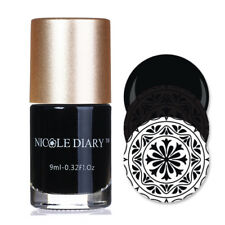 9ml Nail Stamping Polish Black White Silver Nail Art Stamp Varnish NICOLE DIARY