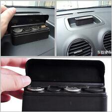 Portable Black Car Autos Dash Coins Holder Container Case Storage Box Storage 1x