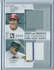 2011 ITG Heroes & Prospects Johnny Bench / Yonder Alonso DUAL GU JERSEY RELIC