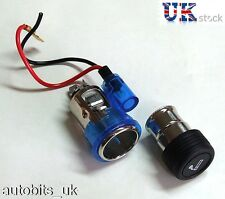 BLUE Cigarette lighter plug & socket for PEUGEOT 106 107 207 307 407 306 406 309