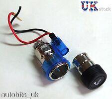 BLUE Cigarette lighter plug & socket for PEUGEOT 106 107 207 307 407 306 406 309