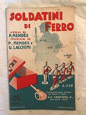 SPARTITO MUSICALE SOLDATINI DI FERRO MENDES LACCHINI ED. CARISCH 1928 N.15551