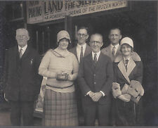 1928? CABINET PHOTO ASHTABULA OH GROUP AT THEATRE RIN TIN TIN MOVIE 2